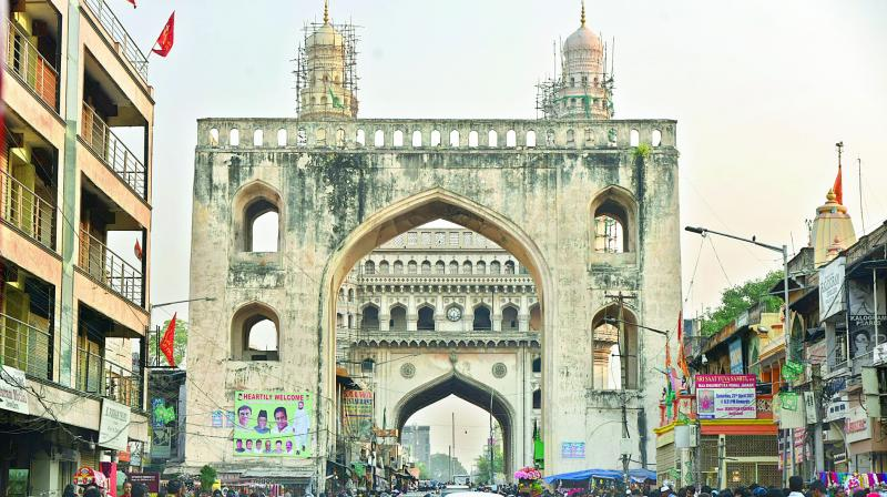 GHMC shelves multi-level parking at Charminar