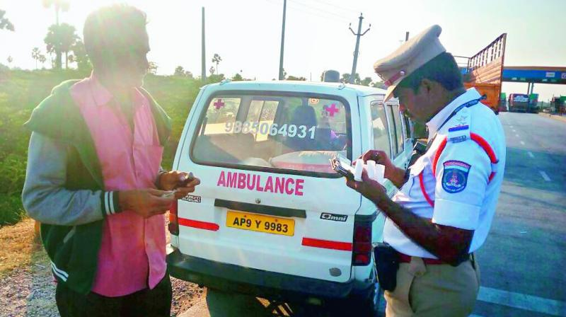 Telangana: Two ambulance drivers held for drunk driving