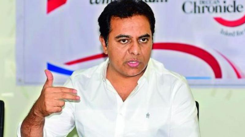 Congress a notional party, says K T Rama Rao