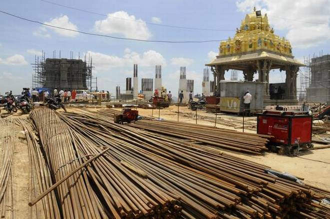 Work on Yadadri temple has picked up pace