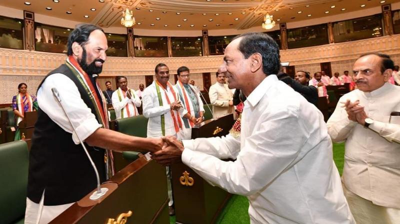 Telangana Legislative Assembly begins amid bonhomie
