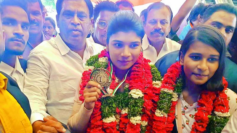 Boxer Nikhat Zareen comes home, sets sights on Olympic spot