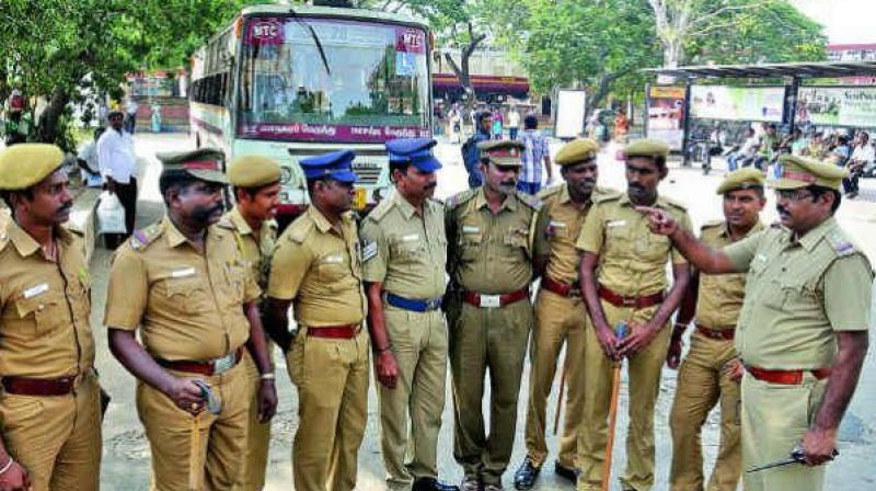 Post-strike, Telangana police impose tight security at Golconda, AOC