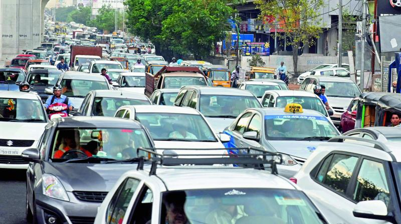 Hyderabad: Traffic snarls to continue due to delay in infrastructure work