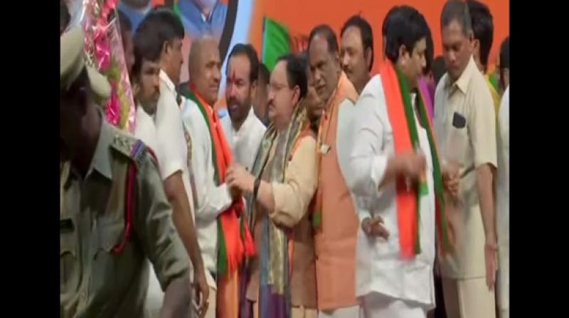 Around 60 prominent TDP leaders join BJP in Telangana