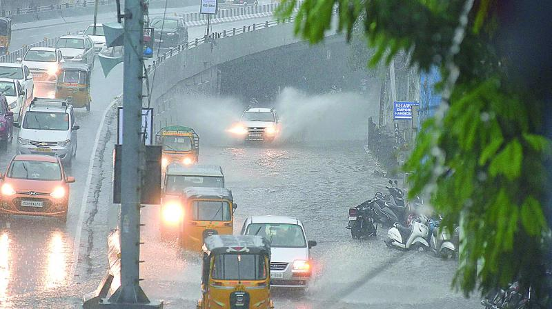 Hyderabad: Low pressure to bring heavy rains today, warns IMD