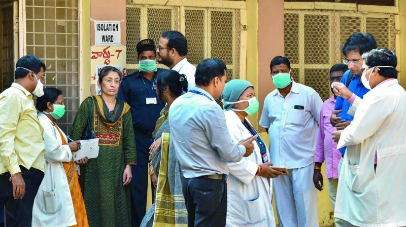 Central team takes stock at Fever, Gandhi hospitals