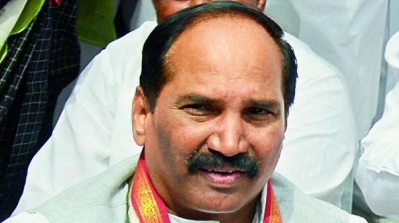 Uttam Kumar Reddy attacks KT Rama Rao over polls