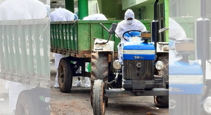 Telangana: Doctor turns tractor driver to take body to graveyard