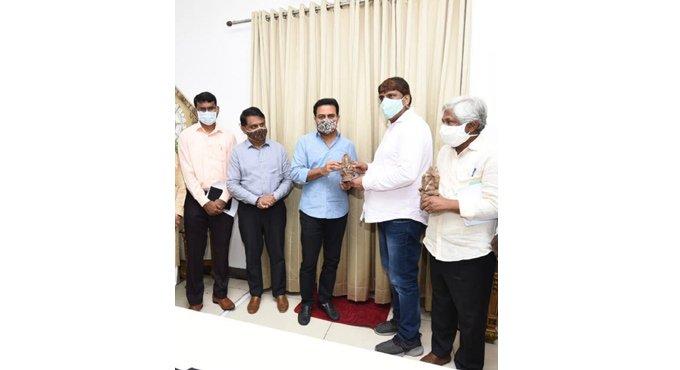 KTR launches HMDA's clay Ganesh idols
